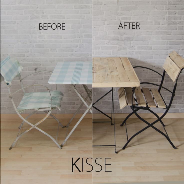 Relooking tavolo e sedie da giardino facebook @kissearte