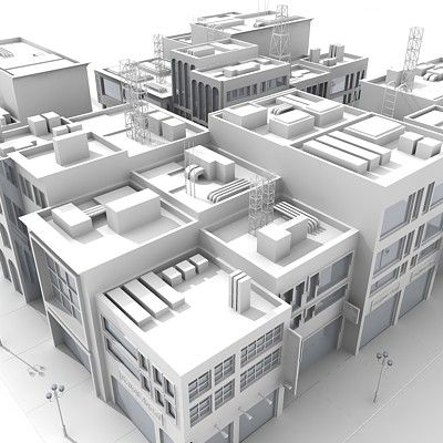 3D City Block :: 3D Models, Textures, Interior and Exterior scenes by Giimann in Autodesk 3D Studio MAX, 3DS, Lightwave LWO, Alias FBX, Maxo...