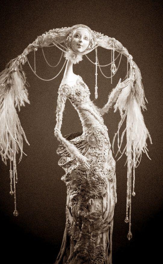 флюмо ткань бисер  60 см 2012