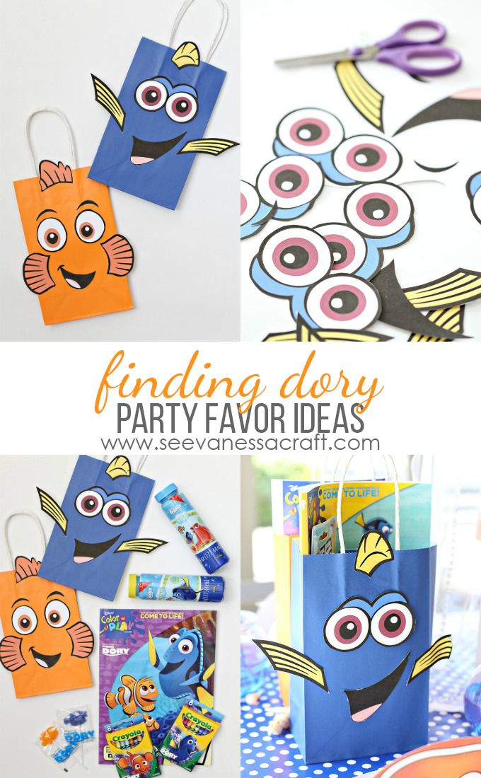 Disney Finding Dory Printable Bag and Birthday Party Favor Ideas