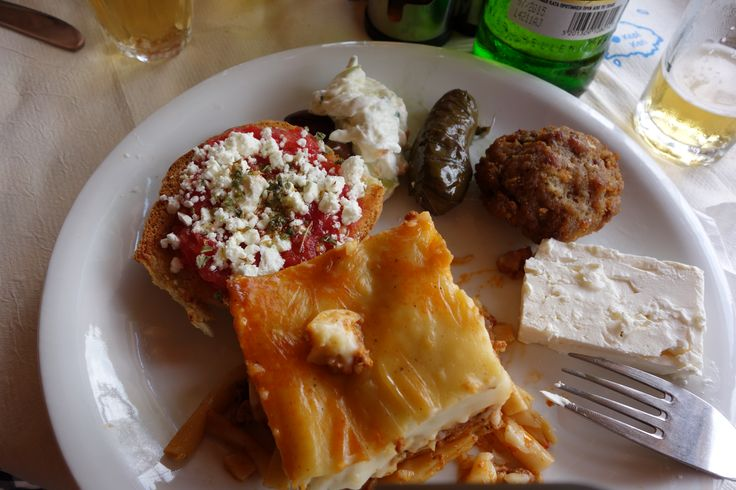 This the real Greek food in a small taverna in Zakynthos. All hand made with eggs from Maria's- the owner- hens and a local specialty zucchini fritters . I can taste it now