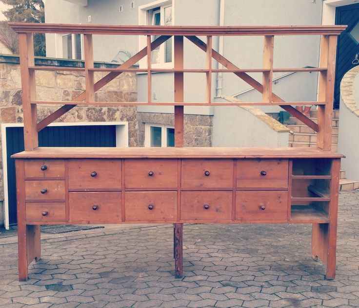 shabby, antikes Ladenregal/Werkstattregal/Schrank. Loft/industrial/industriell/vintage