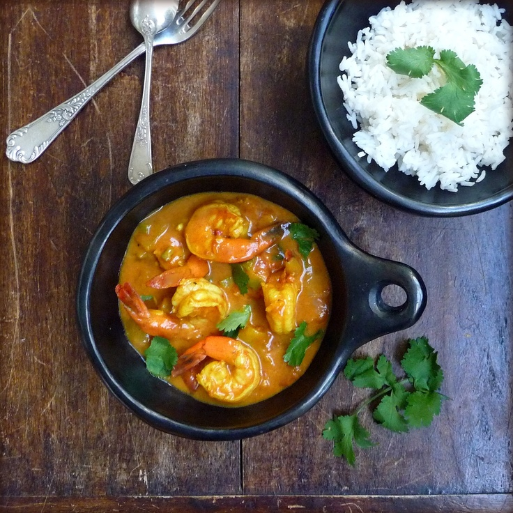 Coconut Shrimp Curry: Easy Recipe, Foodie, Seafood, Eating Ethnic