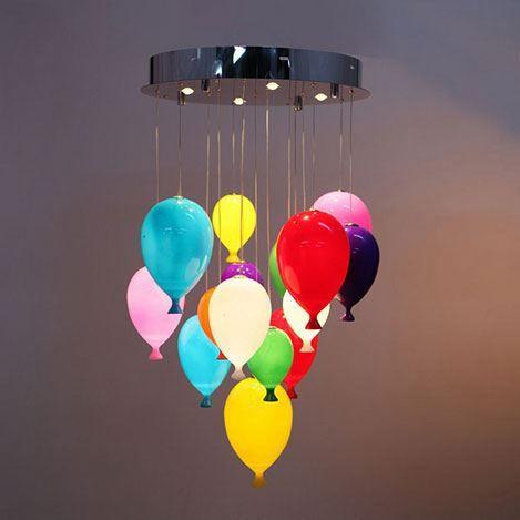 850tl Lumexx 12'li Ledli Balon Avize - Renkli