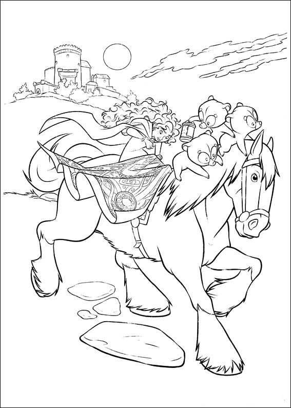 17 best images about coloring pages brave on pinterest disney prince and princess coloring - Rebelle coloriage ...