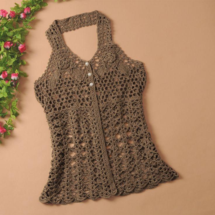 2013-spring-women-s-cutout-crochet-woven-vest-halter-neck-931-spaghetti-strap-top.jpg 1,200×1,200 pixels