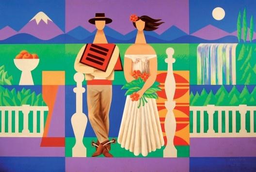 ´Matrimonio huaso´ (1988) Mario Carreño.  http://www.artexperiencenyc.com/social_login