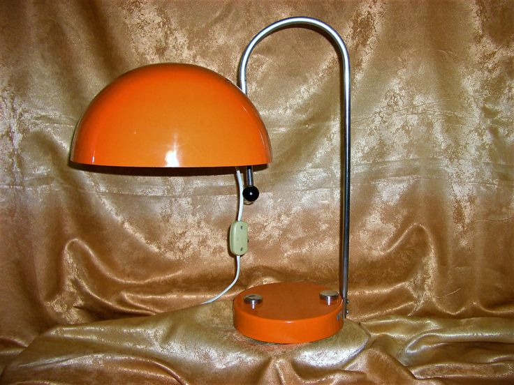 Art Deco minimalist table desk lamp (2), space age inspired, enameled metal brass, collection, gift, vintage by AntiqueBoutiqueZ on Etsy
