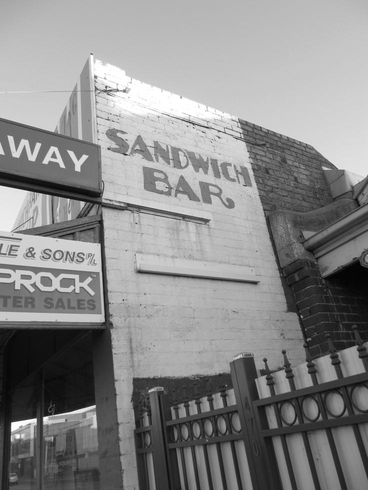 SANDWICH BAR. Victoria Street, Richmond, Melbourne, Australia