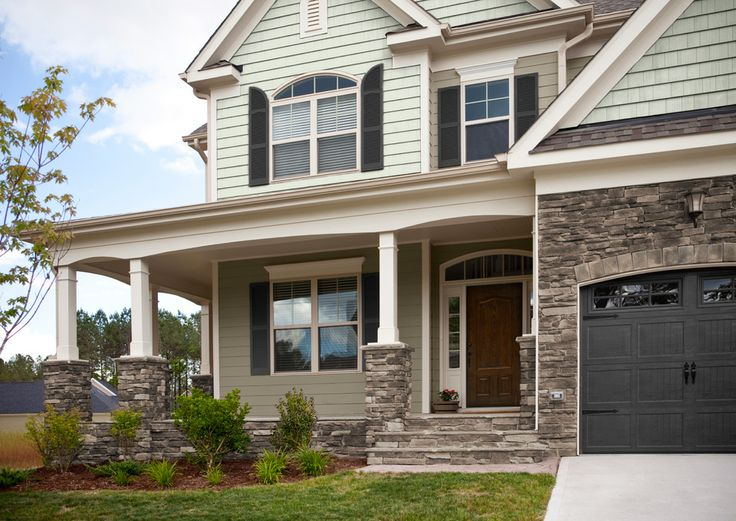 Southbriar ledgestone by heritage stone front porch for Exterior ledgestone