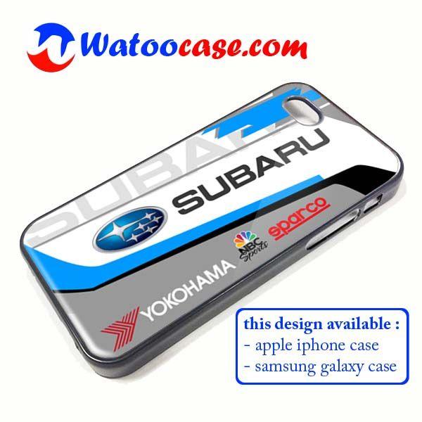 Subaru Racing WRC Rally Phone Case   Apple iPhone 4 4s 5 5s 5c 6 6s Plus Samsung Galaxy S3 S4 S5 S6 S7 EDGE Hard Case. Subaru Racing WRC Rally Phone Case