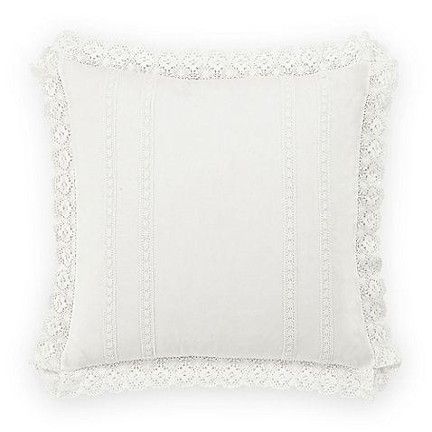Laura Ashley® Annabella European Pillow Sham in White