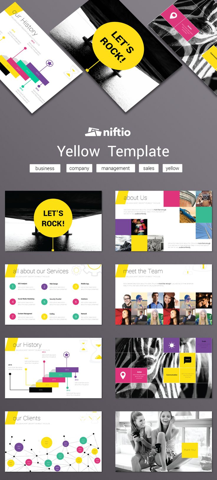 Let the #YellowTemplate help you share your story and rock the stage. #pitch #business #templatethursday