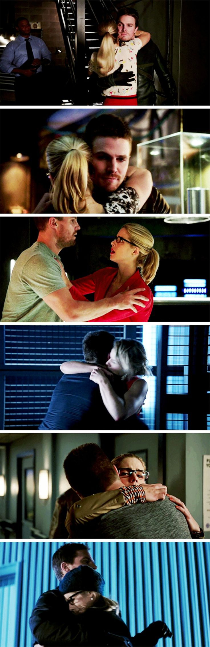 #Olicity + falling/running into each other's arms #Arrow