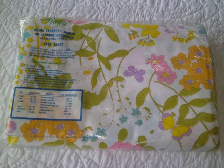 vintage pacific floral bed sheets no iron extra strength muslin fortrel polyester