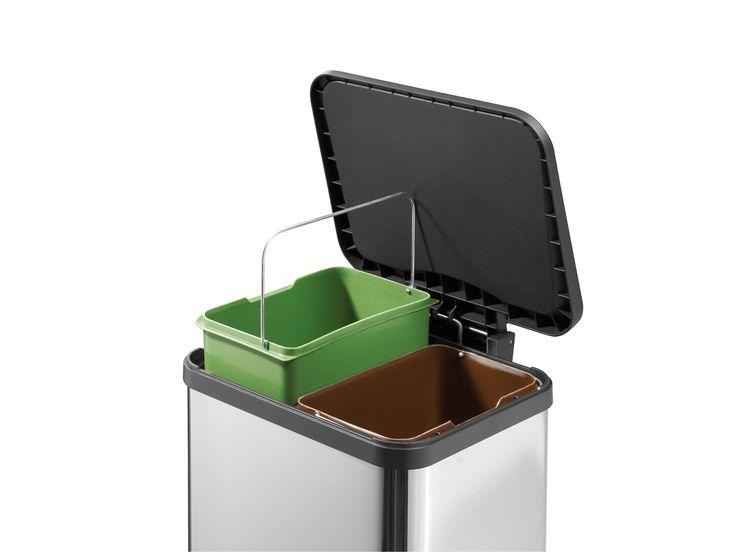 Hailo Öko duo Plus M Tret-Abfalltrenner 2x9L verschiedene Farben   markenbaumarkt24