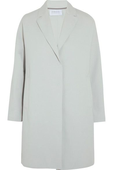 Harris Wharf London - Oversized Stretch Cotton-blend Coat - Sky blue - IT40