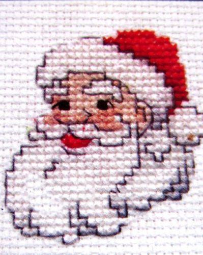"Santa Claus Christmas Cross Stitch Kit 2"" Frame Plaid Holiday Mini Counted Xmas in Crafts, Needlecrafts & Yarn, Cross Stitch & Hardanger, Kits | eBay"