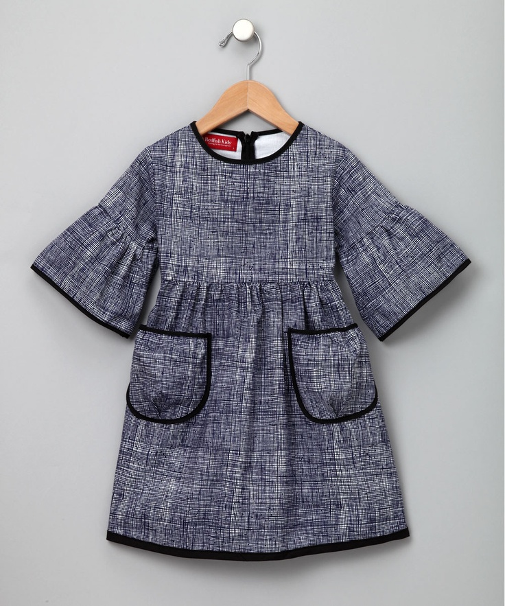 inspiration for handmade  - modify basic dress pattern. I LOVE dark, contrasting bias tape.