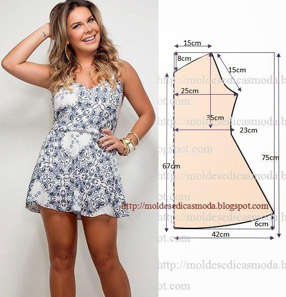 Moldes Moda por Medida: VESTIDO FÁCIL DE FAZER - 8
