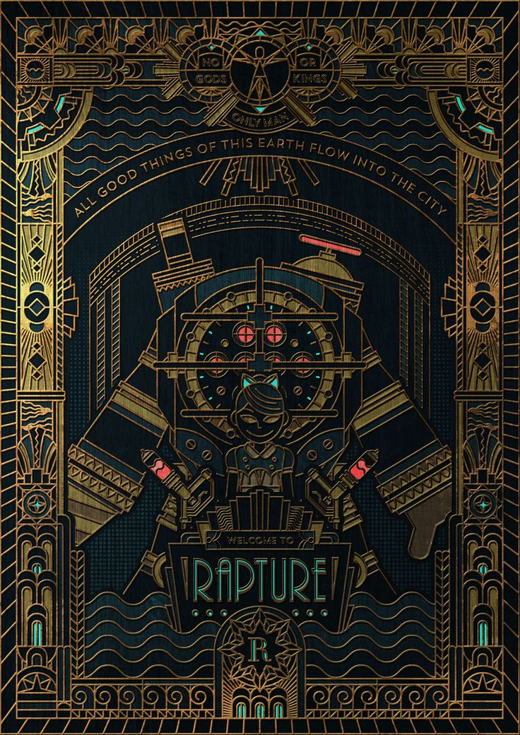 BioShock Rapture. Not sure what this is about, but it's gorgeous design. © James Bernabe on Behance