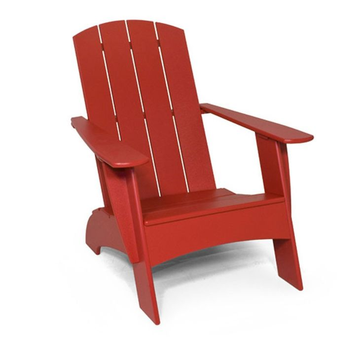 Adirondack Curve Back Compact Chair   Apple Red   High Quality Outdoor And  Casual Furniture