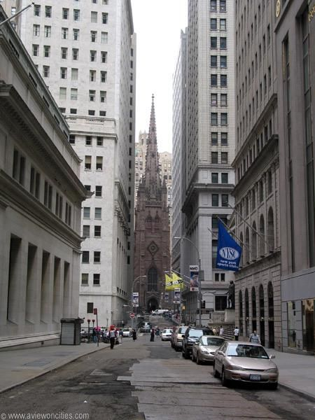Wall Street Where I used to work for BCI=onde eu trabalhava .