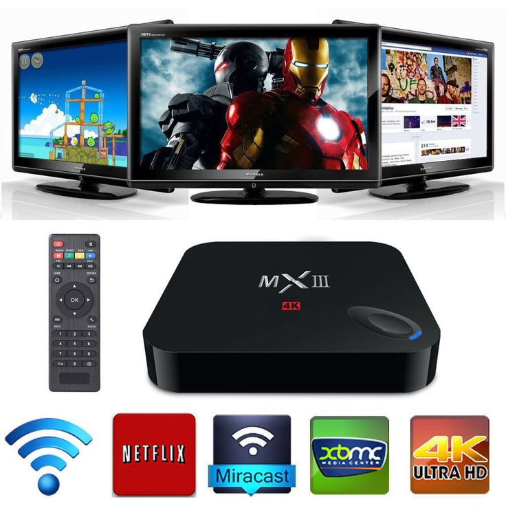 XBMC Quad Core MX3 MXIII Android Smart Internet TV Box 4K 1GB WIFI Tele Gratuite