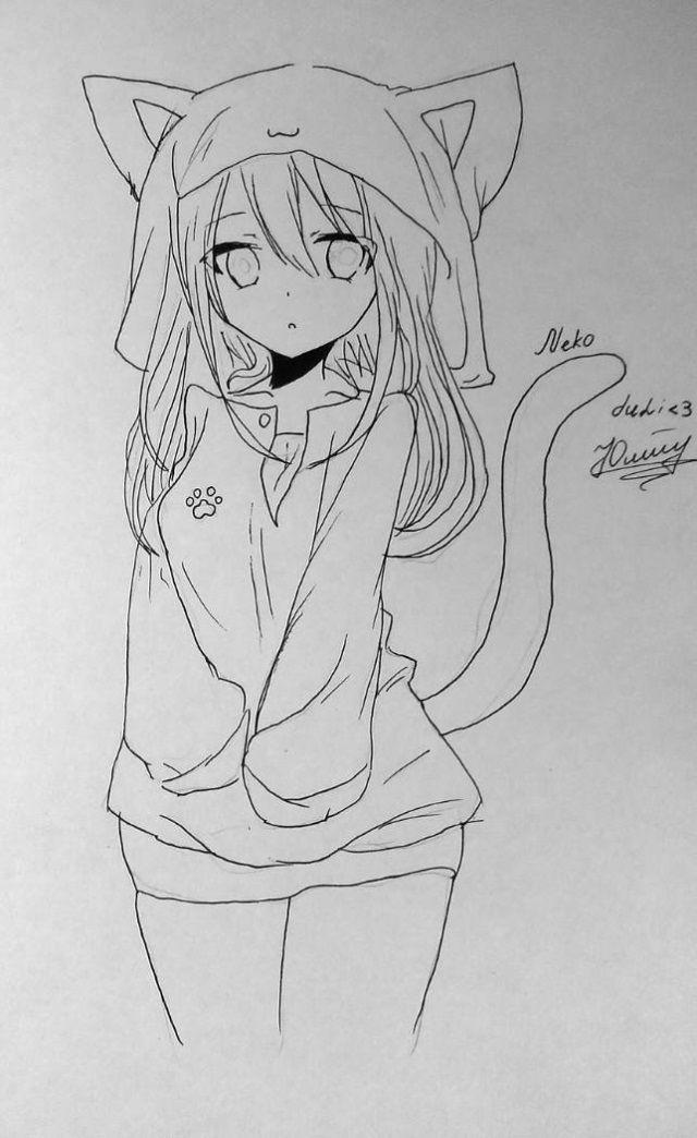 Раскраски аниме девушки кошки (15 картинок) | 101zabava ...