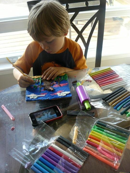 Make a book using plasticine artwork just like author/illustrator Barbara Reid