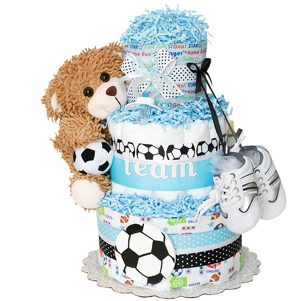 soccer themed diaper cake - Google Search