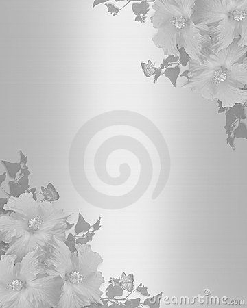 Satén del fondo del hibisco de la invitación de la boda
