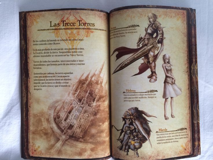 Pandora's Tower additional instruction booklet opened.