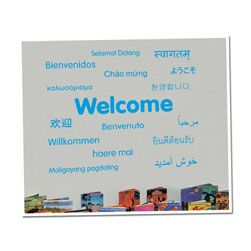 Welcome Languages Vinyl Lettering Word Wall