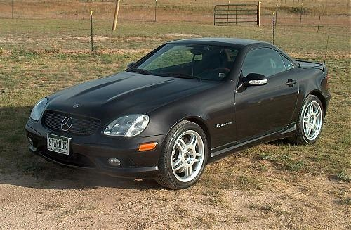 2002 designo Mocha Black Mercedes Benz SLK 32 AMG    (the one I fell in love with)