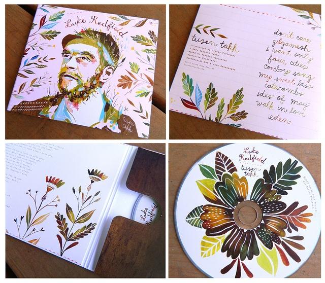 Tusen Takk Album Art CD design for Luke Redfield!