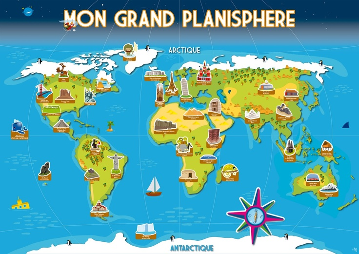 planisphere enfant blog 1600 1133 maps pinterest. Black Bedroom Furniture Sets. Home Design Ideas