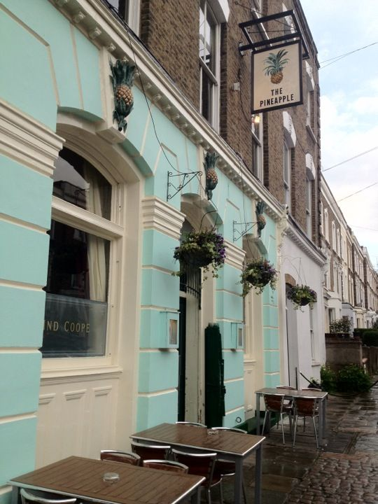 The Pineapple in Kentish Town. My favourite pub in KT. Traditional and cosy in the front, and bright in the conservatory out back. They serve Thai food if you're peckish. 51 Leverton Street, London NW5 2NX.