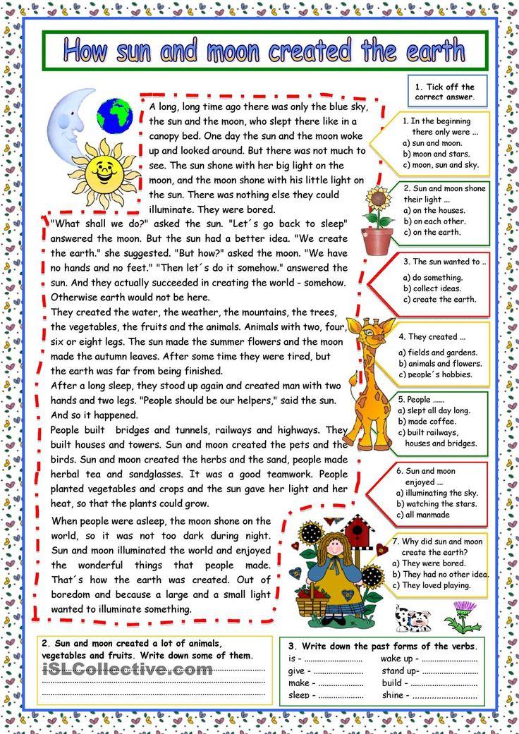 How sun and moon created the earth (+KEY)