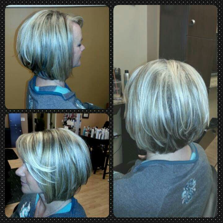 Inverted Bob Highlights And Lowlights Hair By Lisa