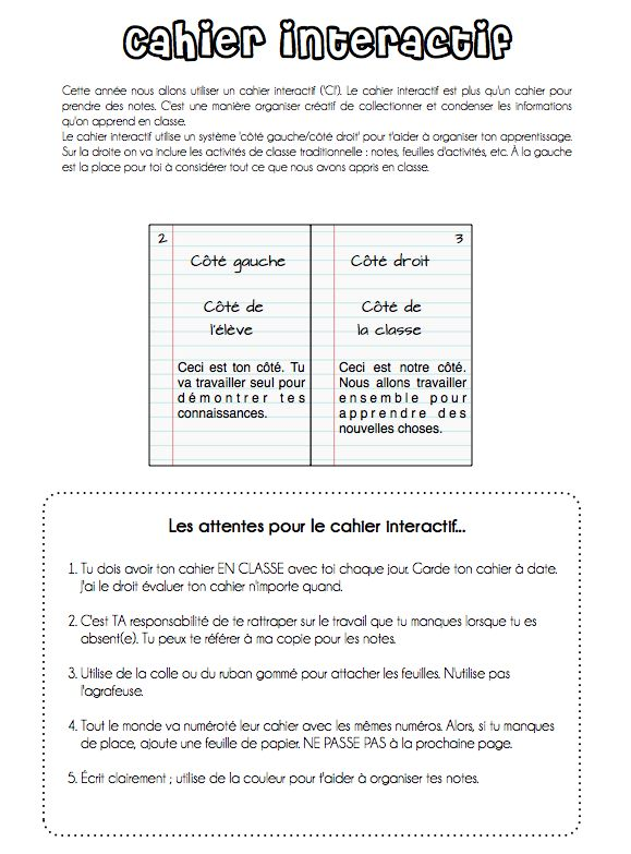 French Interactive Student Notebooks