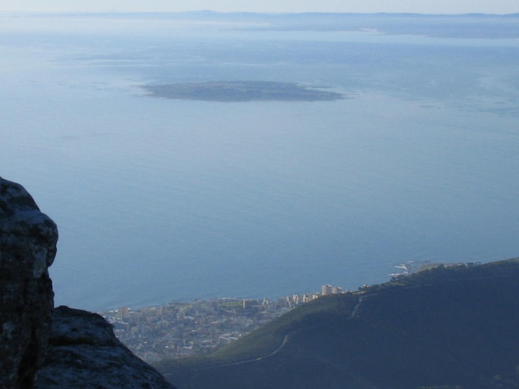 Robben Island from Table Mtn