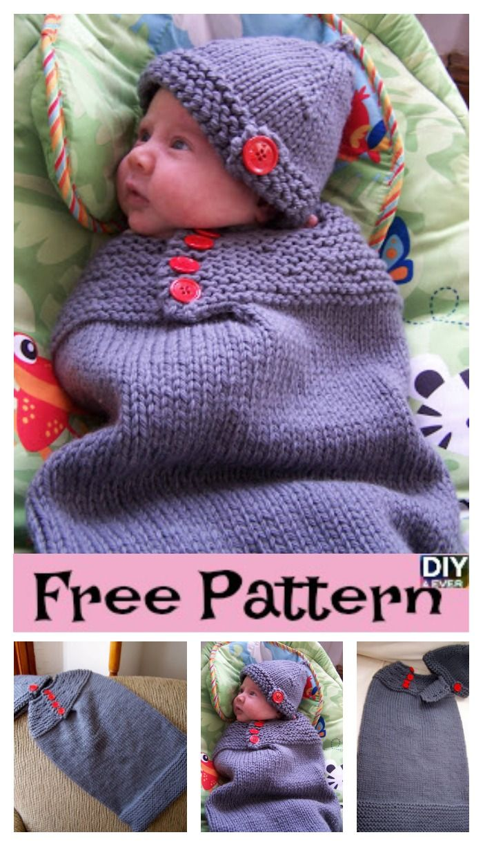 78866892f Adorable Knitted Baby Cocoons - Free Patterns
