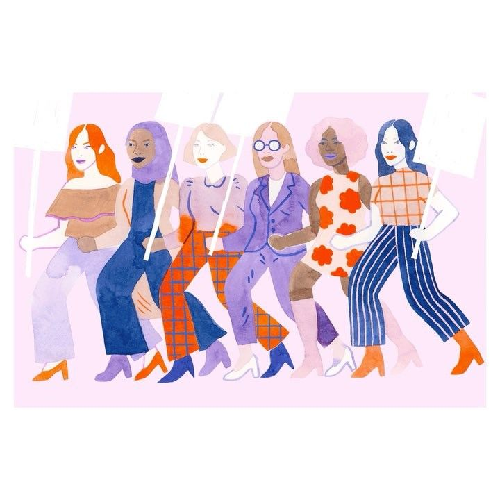 Lil gif illustration I made for @readlocallove for International Women's Day