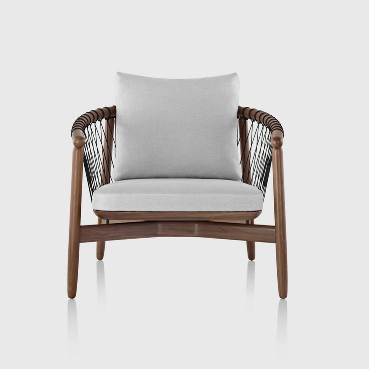 Shop For Crosshatch Chair With Walnut Frame And Gray Upholstery By Herman  Miller Online Or In · Furniture UpholsteryFunky FurnitureFurniture  StoresFurniture ...
