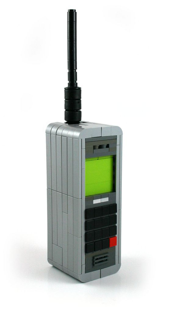 When old mobile phones were like 'bricks' - LEGO Custom Design by(by MacLane)