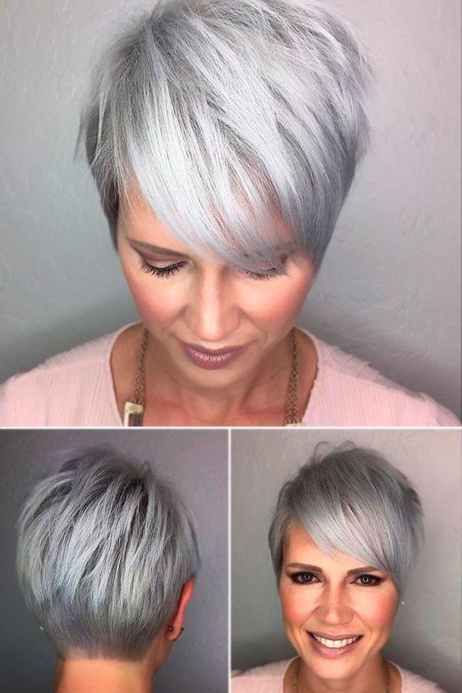 Femme 50 ans Naturally White Silver Grey Hair : 20 Coupes de cheveux à la mode pour les femmes ...