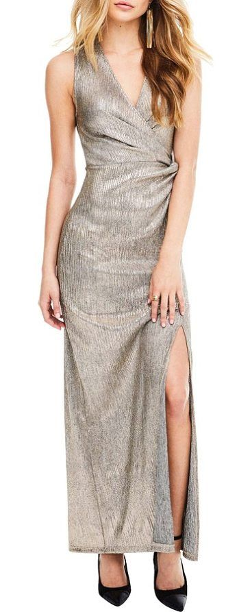 ginger maxi dress by ASTR the Label. The answer to your most important RSVP this season, this starlet-worthy metallic maxi dress is cut to to drape the figure for maximum impact. Style Name: Astr The Label Ginger Maxi Dress. Style Number: 5502729. Available in stores. #astrthelabel #dresses #gowns