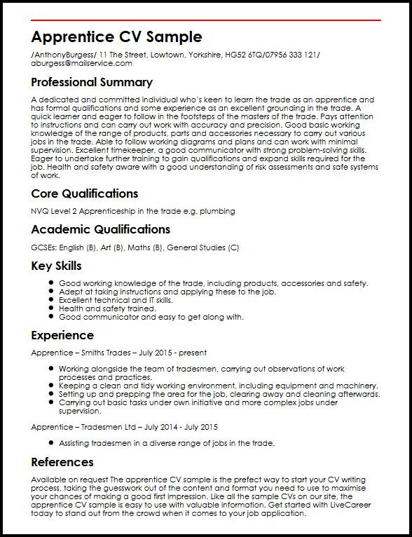 Cv Template Qualifications Cvtemplate Qualifications Template Good Cv Best Cv Template Resume Examples