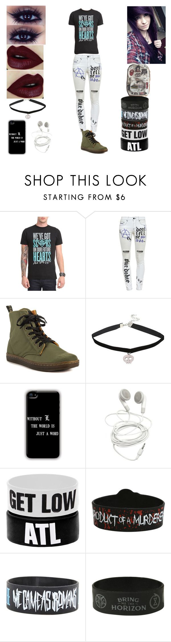 """Untitled #246"" by threedaystoremember ❤ liked on Polyvore featuring Filles à papa and Dr. Martens"